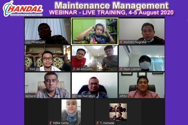 Maintenance Management-Webinar-Live Training-August 2020