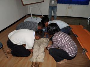 Demo Peregangan Training Petugas P3K (First Aid)